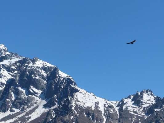 Dia na Cordilheira dos Andes - Vulcão