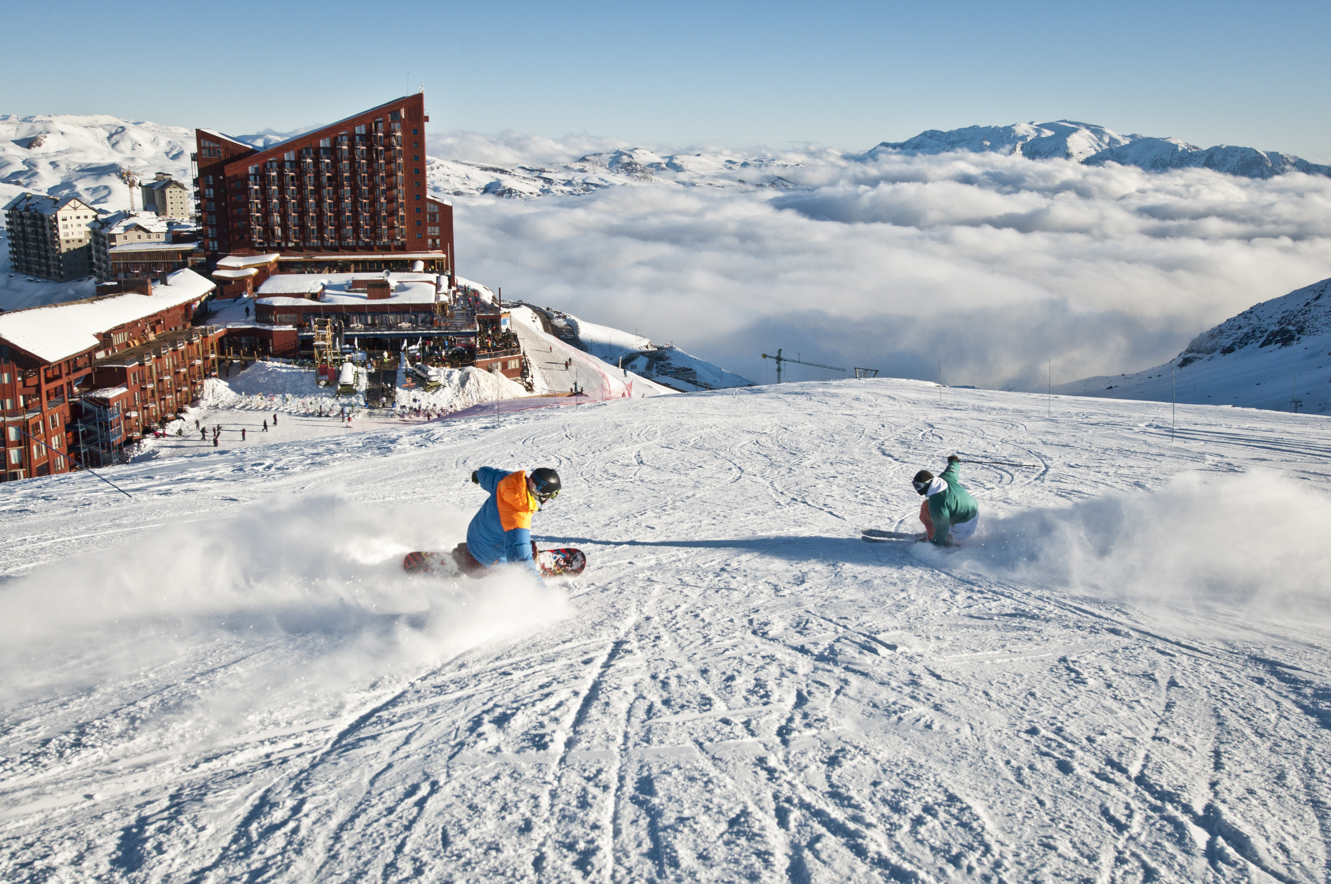 pictures and videos of ski day in valle nevado   full day