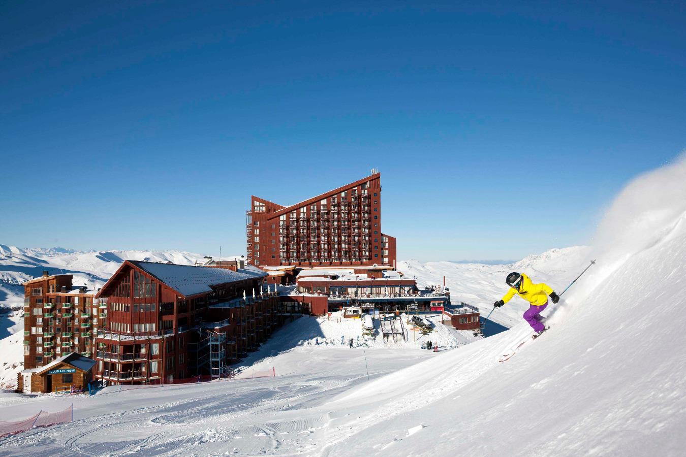 valle nevado ski center chile